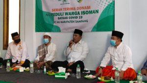 Bupati Sampang Apresiasi Satgas Covid-19 PCNU Bantu Warga Terdampak Virus Corona